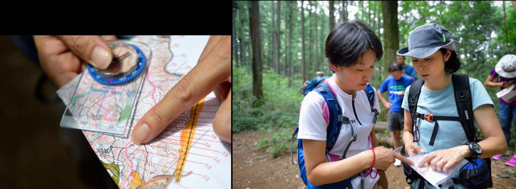 「地図が読めれば、山の中で迷っても安心」。今回の指導者研修では、初心者に地図の読み方をどう教えるかについても仲間といっしょに検討。
